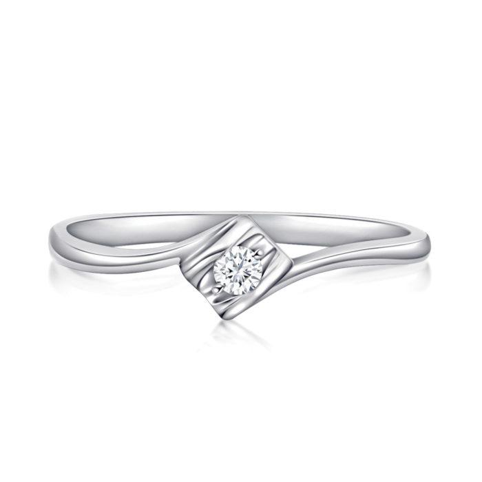 Simple Love Diamond Ring