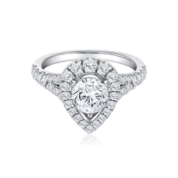 Fancy Teardrop Diamond Ring
