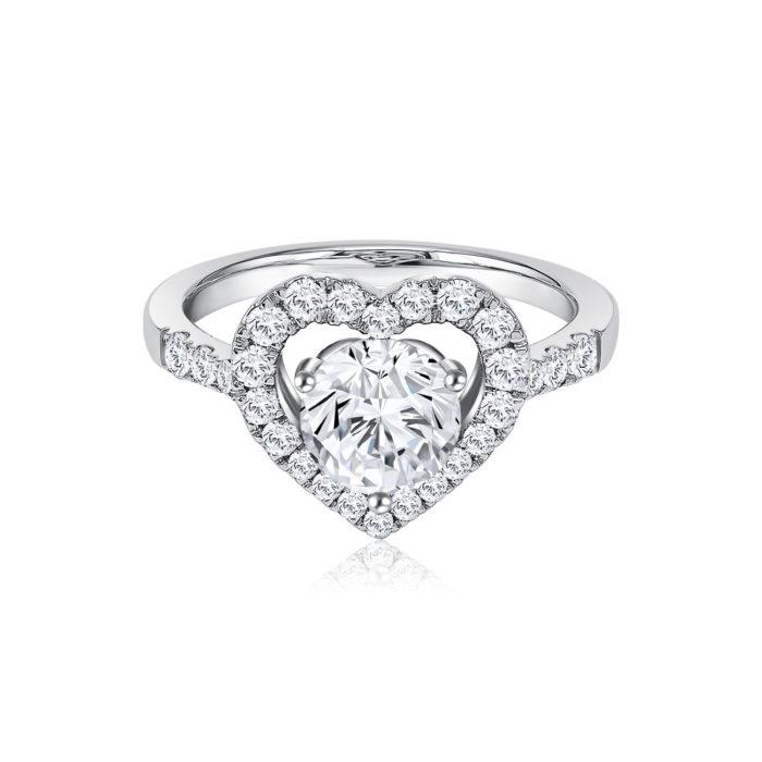 Fancy Heart Diamond Ring