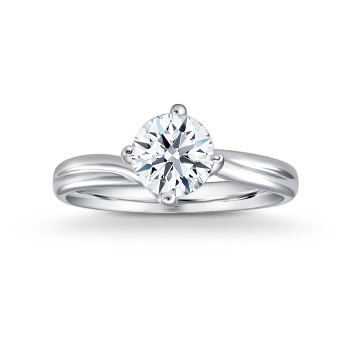 Classic Twirl Diamond Ring