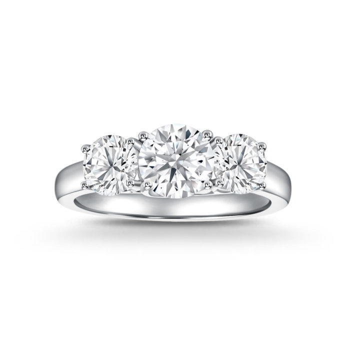 Classic Trilogy Diamond Ring
