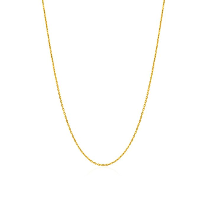 916 Yellow Gold Link Chain