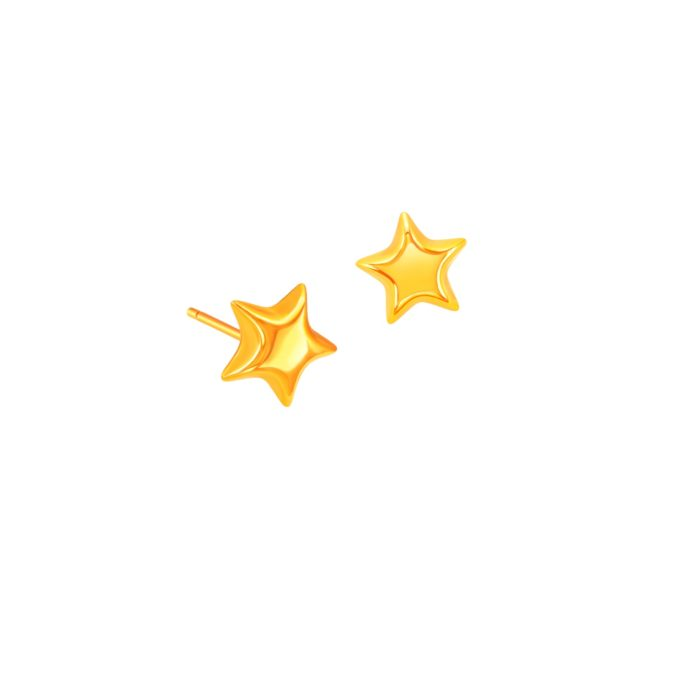 lucky star 916 gold earrings