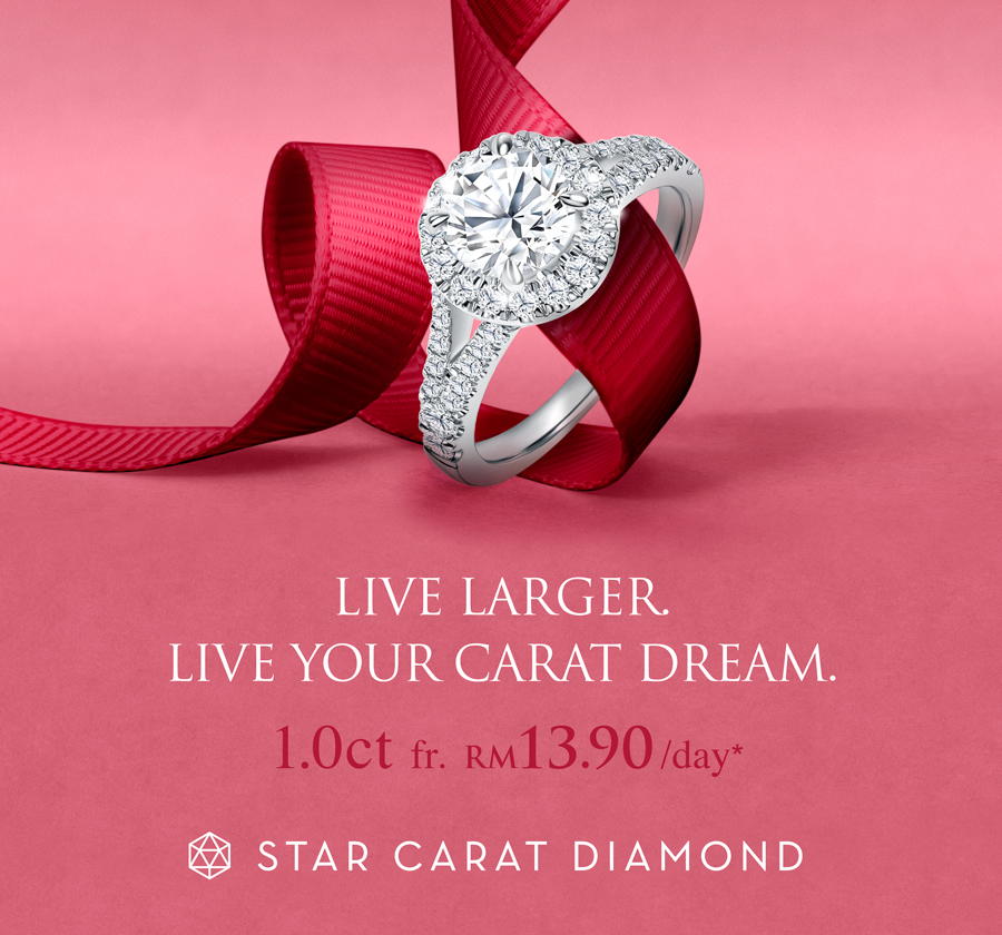 Diamond Ring Campaign banner - Live Your Carat Dream